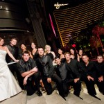 Bridal Party in Front of Wynn