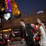 Hailing a Cab on the Strip on the Big Day!